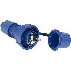 Schutzkontaktstecker 3 pol./250V/16A/IP66/68/druckwasserdicht