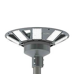 Mastaufsatzleuchte N8LED 2.0 230VAC/dimmbar/grau/d=76mm