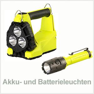 Akkuleuchten und Batterieleuchten
